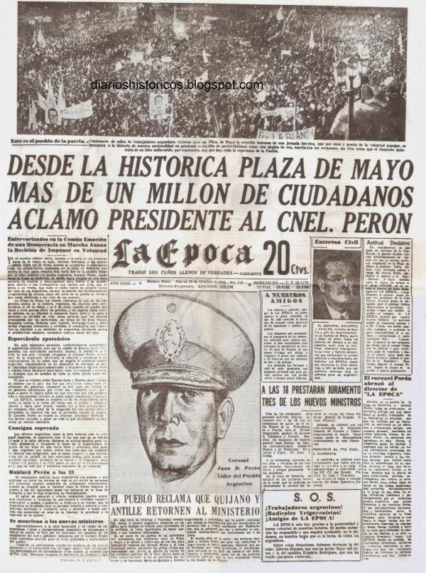 La Epoca 18 de octubre de 1945