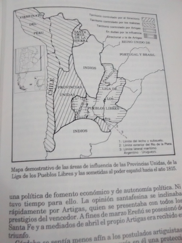 Mapa Pcias Unidas. Floria Belsunce.