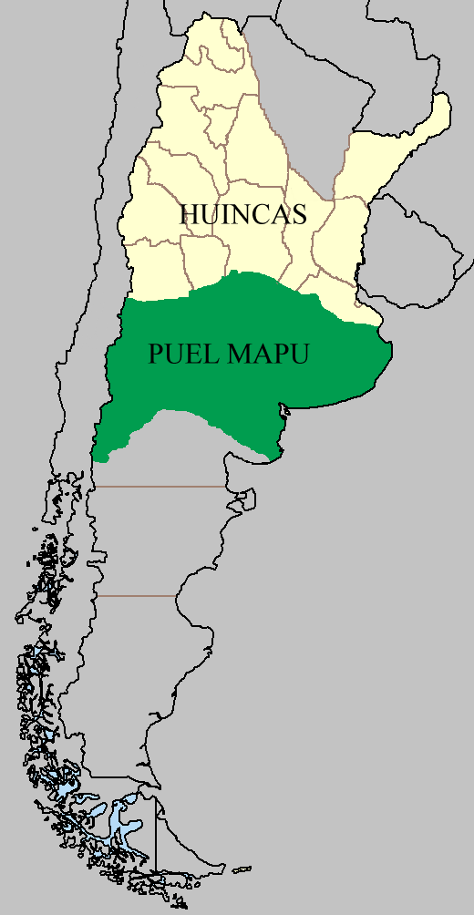 Mapa según la Indiada