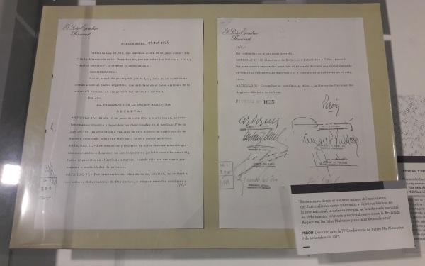 Museo_Malvinas_-_Decreto_de_Perón_sobre_el_10_de_Junio